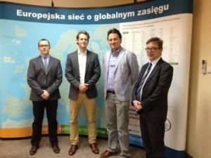 Sam and Ben Pinnington meet Krakow Chamber of Commerce